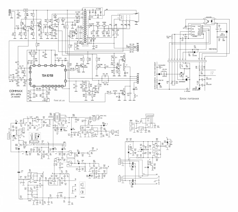 принципиальная электрическая схема вызывного устройства домофона АТЛАНТИК